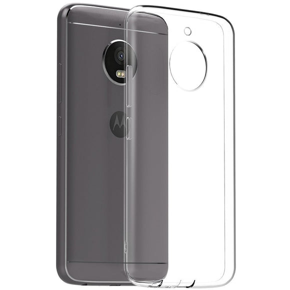 YOFO Soft Clear Back Cover For Motorola Moto E4 Plus (Transparent)