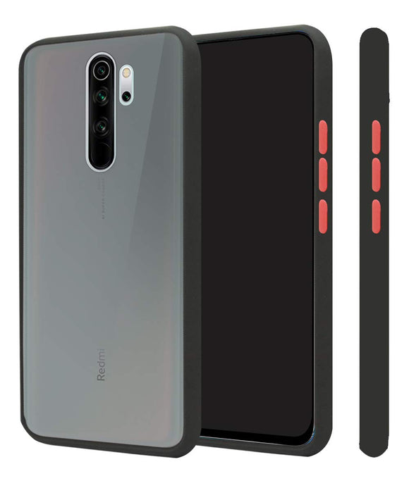 YOFO Matte Finish Smoke Back Cover for Mi Redmi Note 8Pro-Black