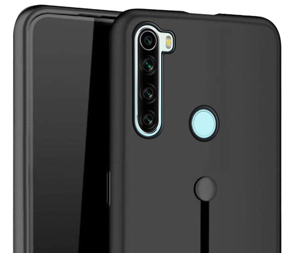 YOFO Fashion Case Full Protection Back Cover for MI REDMI Note 8(Black)
