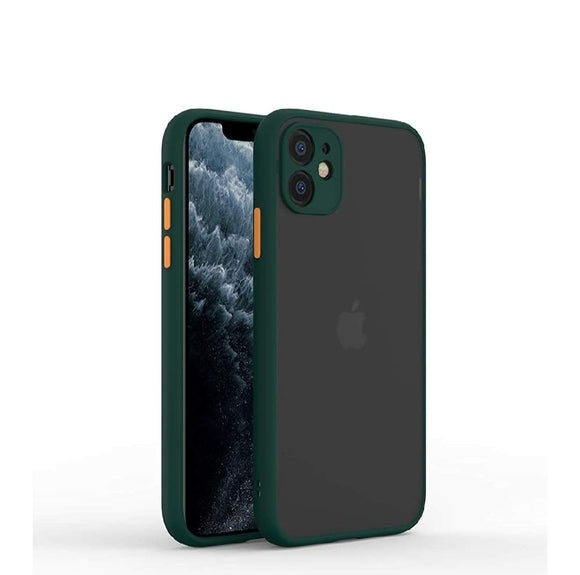 YOFO Matte Finish Smoke Back Cover for Apple iPhone 12 Mini (5.4)-Green