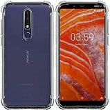 YOFO Silicon Shockproof Soft Transparent Back Cover for Nokia 3.1+ (Plus) - (Transparent)