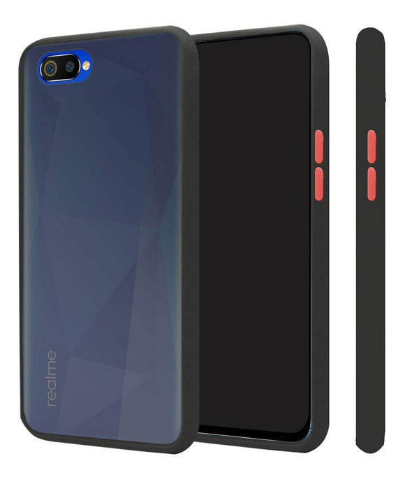 YOFO Matte Finish Smoke Back Cover with Full Camera Lens Protection for Realme C2
