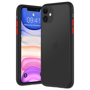 YOFO Matte Finish Smoke Back Cover for Apple iPhone 11 (6.1)-BLACK