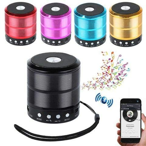 WS-887 Super Bass Splash proof Wireless Bluetooth Speaker Best Sound Quality Playing with Bluetooth/AUX/Memory Card/Pan Drive/FM