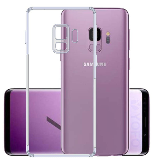 YOFO Back Cover for Samsung S9 (Transparent) Camera Protection with Dust Plug