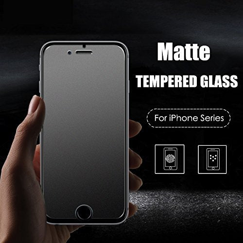 YOFO Anti Glare Matte Finish Anti-Fingerprint Tempered Glass Screen Protector for Apple iPhone 7