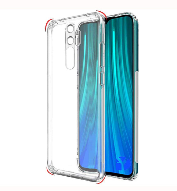 YOFO Silicon Full Protection Back Cover for MI Redmi Note 8 PRO (Transparent)