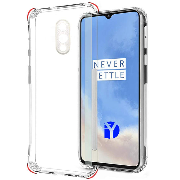 YOFO Silicon Full Protection Back Cover for OnePlus 7 {1+7} (Transparent) Shockproof Ultra Thin
