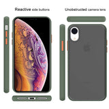YOFO Matte Finish Smoke Back Cover for Apple iPhone XR-Green
