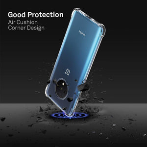 YOFO Shockproof Soft Transparent Back Cover for OnePlus 7T (Transparent)