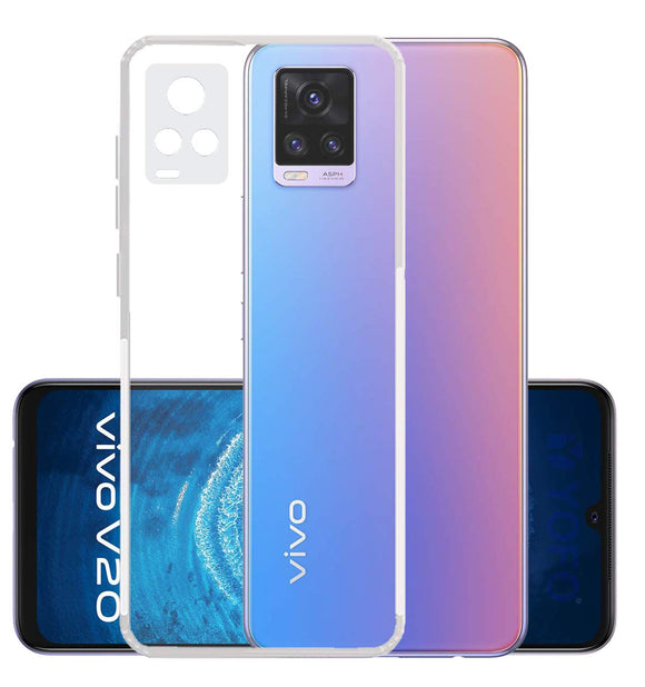 YOFO Silicon Transparent Back Cover for Vivo V20 (2021) Camera Protection with Anti Dust Plug