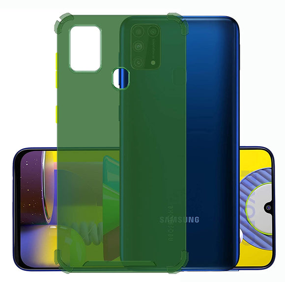 YOFO Silicon Flexible Smooth Matte Back Cover for Samsung M31 / M31 Prime / F41(GREEN)
