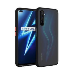 YOFO Matte Finish Smoke Back Cover with Full Camera Lens Protection for Realme 6