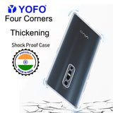 YOFO Silicon Back Cover for Vivo V17 Pro (Transparent) Camera Protection with Dust Plug