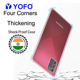 YOFO Silicon Transparent Back Cover for Samsung Galaxy M02s Shockproof Bumper Corner, Ultimate Protection with Free OTG Adapter