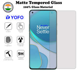 YOFO Matte Tempered Glass/Screen Guard for OnePlus 8T (Matte Finish) Full Screen Coverage (except edges)