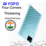 YOFO Silicon Transparent Back Cover for Realme Narzo 30A Shockproof Bumper Corner with Ultimate Protection