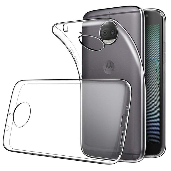 YOFO Rubber TPU Soft Gel Rubber Shockproof Back Cover for Motorola Moto G5S Plus
