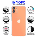 YOFO Back Cover for iPhone 12(5.4) (Transparent) with Dust Plug & Camera Protection