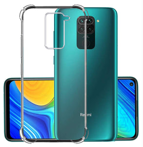 YOFO Silicon Transparent Back Cover for Mi Redmi Note 9 Shockproof Bumper Corner with Ultimate Protection