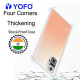 YOFO Silicon Transparent Back Cover for Mi Redmi Note 10 Pro Shockproof Bumper Corner, Ultimate Protection with Free OTG Adapter