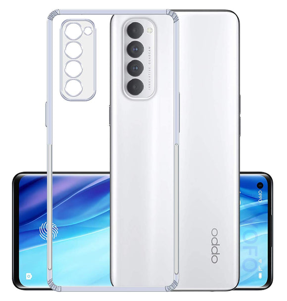 YOFO Back Cover for Oppo Reno 4Pro (Transparent) Camera Protection with Dust Plug