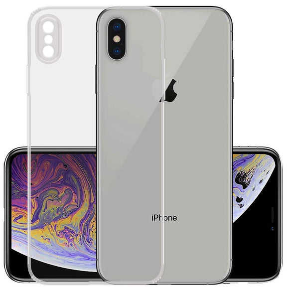 YOFO Silicon Full Protection Back Cover for Apple iPhone X/XS (Transparent)