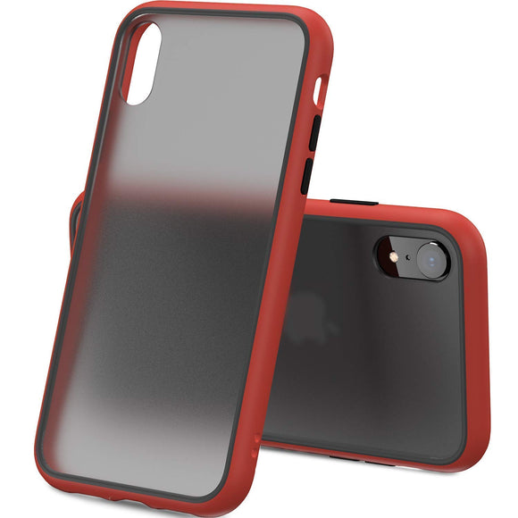 YOFO Matte Finish Smoke Back Cover for Apple iPhone XR-Red