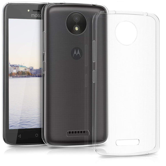 YOFO Soft Clear Back Cover For Motorola MOTO C (Transparent)
