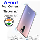 YOFO Silicon Transparent Back Cover for Mi Redmi 9 Prime Shockproof Bumper Corner, Ultimate Protection with Free OTG Adapter