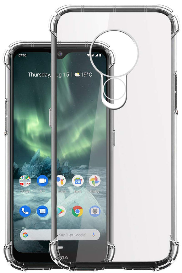 YOFO Silicon Full Protection Back Cover for Nokia 7.2 (Transparent)