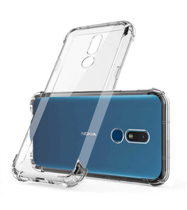 YOFO Shockproof Soft Transparent Back Cover for Nokia C3 -(Transparent)