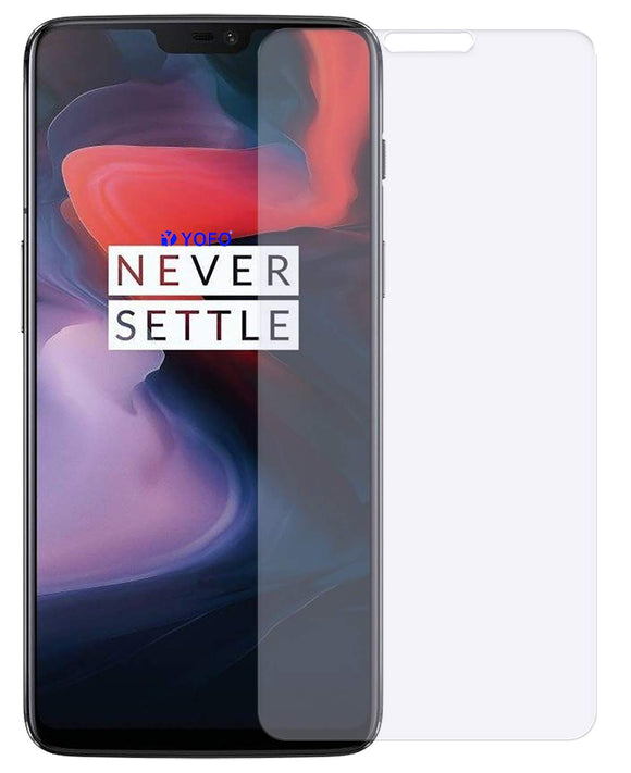 YOFO Matte Tempered Glass/Screen Guard for OnePlus 6 (Matte Finish) Full Screen Coverage (except edges)