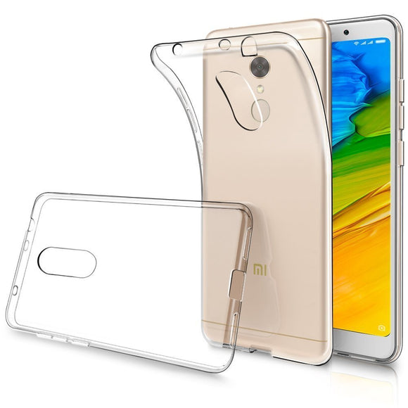 YOFO Back Case Cover for Mi Redmi 5 (Transparent)