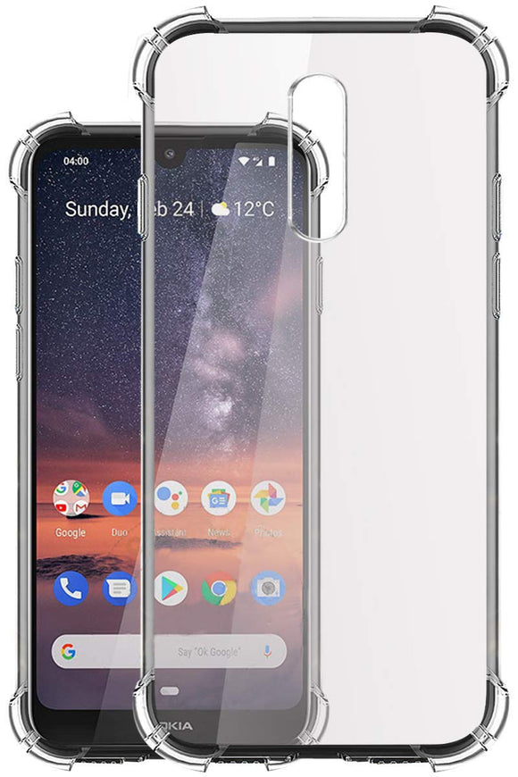YOFO Transparent All Sides Protection Back Cover for Nokia 3.2 (Transparent)