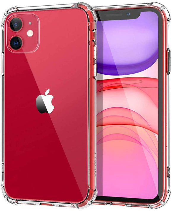 YOFO TPU Cristal Glass Shockproof Back Cover for Apple iPhone 11 {6.1 Inch}- (Transparent)