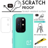 YOFO Anti Scratch Camera Lens Screen Protector 9H Camera Nano Glass for One Plus 8T (Transparent)