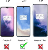 YOFO HD Tempered Glass for Oneplus 7T - Screen Protector Guard Full Glue Glass Edge-to-Edge Gorilla Glass for Oneplus 7T (Black)