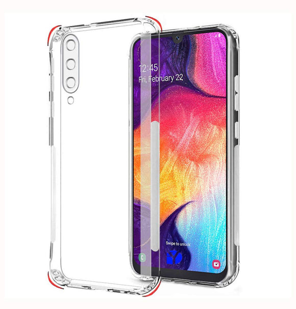 YOFO Silicon Full Protection Back Cover for Samsung A50s / A30s / A50 (Transparent) Shockproof Ultra Thin