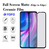 YOFO Mattte Finish Anti-Fingerprint Ceramic Flexible Screen Protector for Redmi Note 8Pro