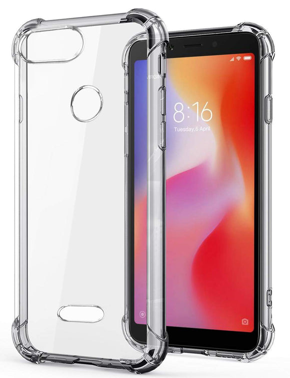 YOFO Silicone Back Cover for MI Redmi 6 (Transparent)