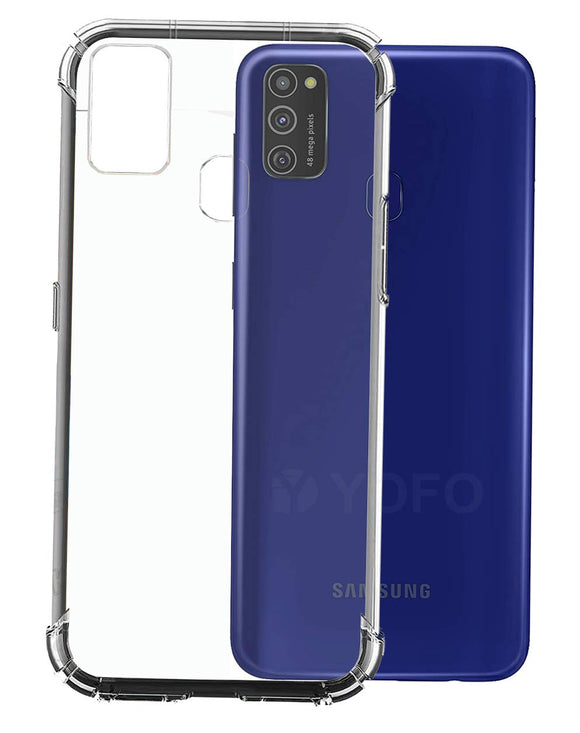 YOFO  Shockproof HD Transparent Back Cover for Samsung M21(Transparent)