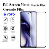 YOFO Mattte Finish Anti-Fingerprint Ceramic Flexible Screen Protector for Redmi Note 9Pro / Redmi Note 9Pro Max/Redmi 9s