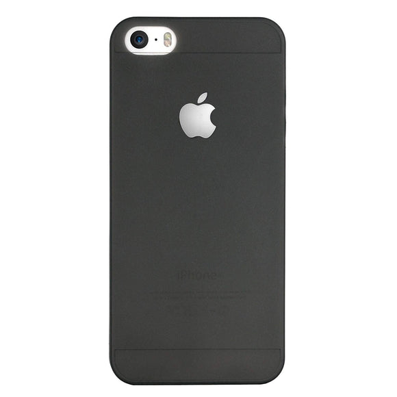 Yofo Soft Ultra Thin Logo Cut Paper Back Cover Case for iPhone 5/5S (Black)