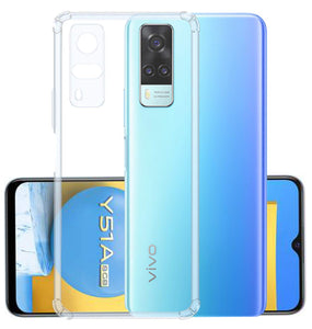 YOFO Silicon Transparent Back Cover for Vivo Y51 A/Vivo Y31 Shockproof Bumper Corner with Ultimate Protection