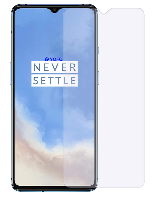 YOFO Matte Tempered Glass/Screen Guard for OnePlus 7T (Matte Finish) Full Screen Coverage (except edges)