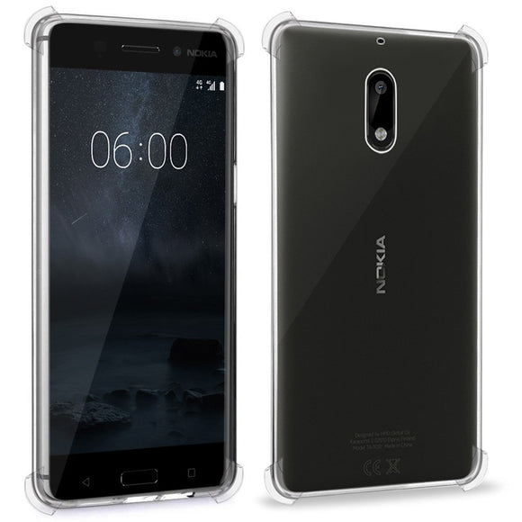 Yofo Transparent Soft Rubber Back Cover for Nokia 6 (Transparent)