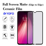 YOFO Mattte Finish Anti-Fingerprint Ceramic Flexible Screen Protector for Redmi Note 8