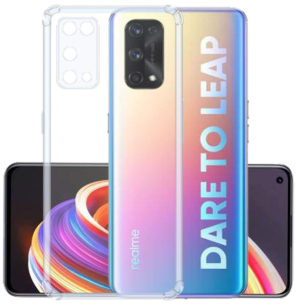 YOFO Silicon Transparent Back Cover for Realme X7 Pro Shockproof Bumper Corner with Ultimate Protection