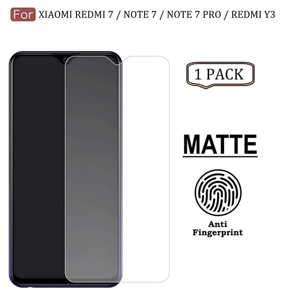 YOFO Anti Glare Matte Finish Anti-Fingerprint 9H Tempered Glass Screen Protector for Xiaomi Mi Redmi Note 7 Pro/Note 7 / Note 7S (Matte Transparent)